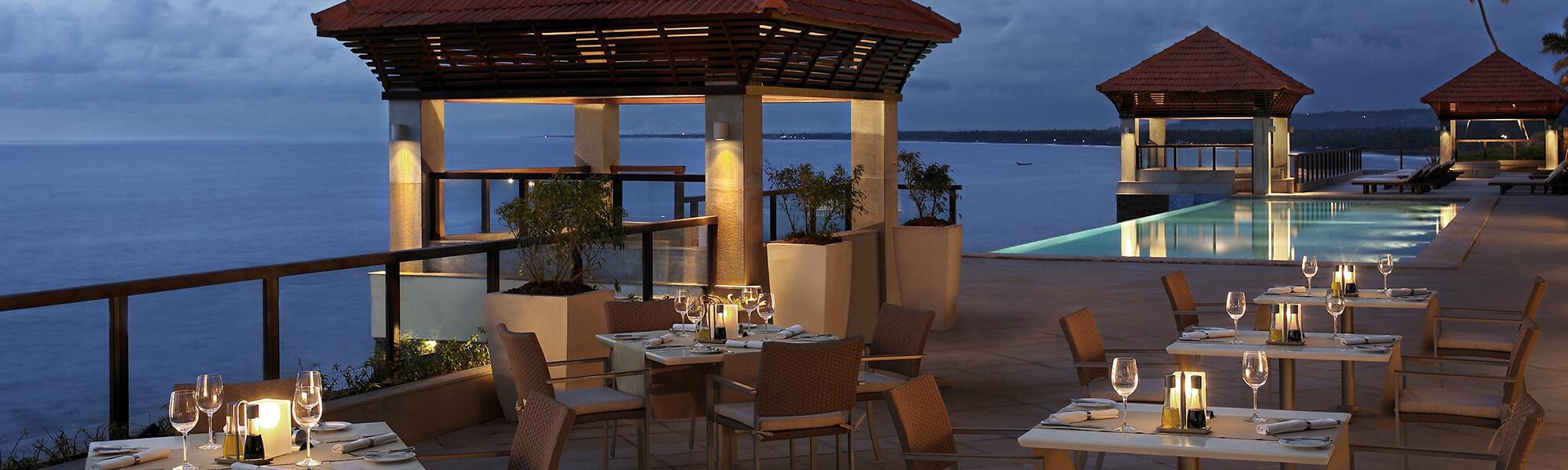Restaurant and Bar - The Raviz Kovalam